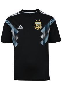 Camisa Argentina Ii 2018 Adidas - Infantil - Preto/Azul Cla