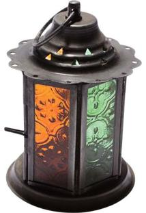 Lanterna C/ Porta-Vela | Laranja E Verde