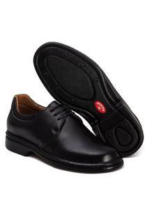 Sapato Ortopédico Masculino Super Leve E Confortável Preto Ranster 2004