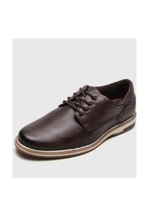 Sapato Social Pegada Texturizado Marrom