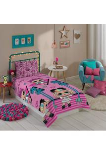 Jogo De Cama Infantil Microfibra Estampado Lol Pink Lepper