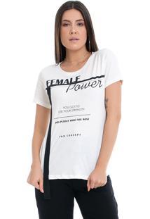 T-Shirt Pkd Concept Eco Female Power Off White
