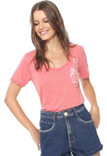 Camiseta Coca-Cola Jeans Reta Rosa