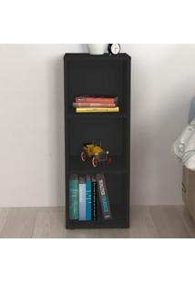 Estante Para Livros Clean 2 Prateleiras Preto - Artany