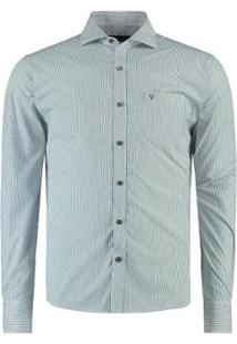 Camisa Vr Listras Masculina - Masculino-Azul