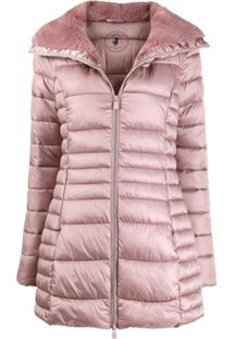 Save The Duck Padded Zip-Front Jacket - Rosa