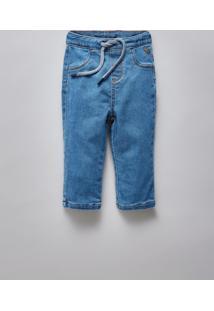Calca Bb Jeans Bolso Basico Reserva Mini Azul - Kanui