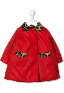 Dolce & Gabbana Kids Leopard Details Jacket - Vermelho