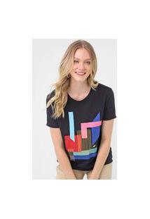 Camiseta Cantão Color Block Preta