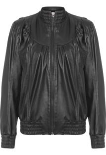 Jaqueta Feminina Leather Jagger - Preto