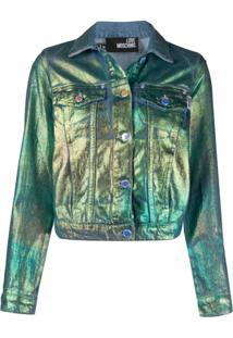 Love Moschino Jaqueta Jeans Metálica - Azul