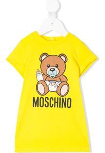 Moschino Kids Vestido Reto Com Estampa Teddy Bear - Amarelo
