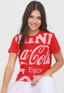 Camiseta Coca-Cola Jeans Estampada Vermelha - Vermelho - Feminino - Algodã£O - Dafiti