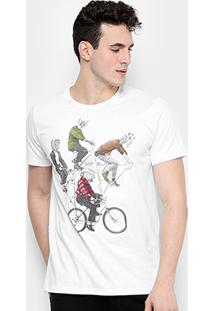 83e34e9cf Camiseta Colcci Bike Animals Masculina - Masculino-Branco