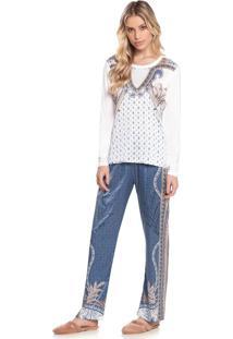 Pijama Violeta - M555 Azul/P