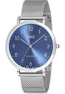 Relógio Qq Analógico Qa20-828Y Feminino - Feminino-Prata