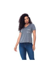 T-Shirt Daniela Cristina Gola Resiliência 602Dc10360 Cinza