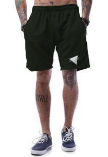 Bermuda Tactel Cellos Nacho Premium Masculina - Masculino-Verde Militar