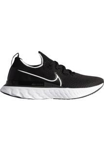 Tênis Masculino Nike React Infinity Run Flyknit Corrida Preto/Branco - 39