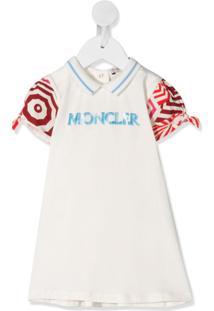 Moncler Kids Vestido Polo Com Recortes - Neutro