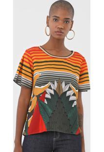 Camiseta Forum Estampada Laranja/Verde - Kanui