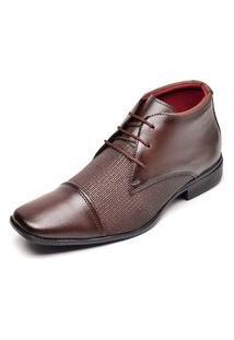 Sapato Social Masculino Cano Alto Top Flex