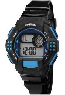 Relógio Technos Grêmio Digital Preto E Azul