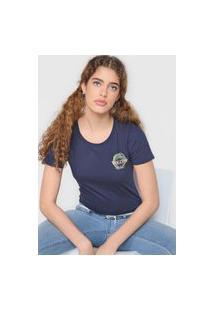 Camiseta Volcom Dial Azul-Marinho