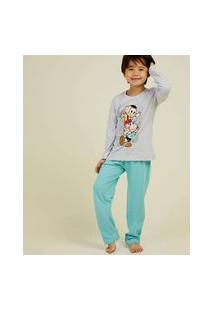 Pijama Infantil Manga Longa Turma Da Mônica Tam 4 A 10