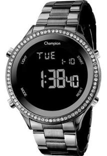 Relógio Champion Digital Ch40222D Feminino - Feminino-Preto