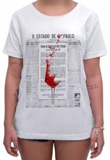 Camiseta Impermanence Estampada Taça Feminina - Feminino-Branco