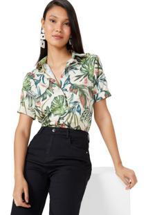 Amaro Feminino Camisa Manga Curta Com Elastano, California Garden