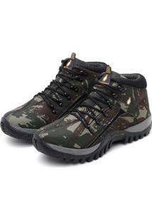 Bota Adventure Masculina Trilha Confortavel Verde Militar