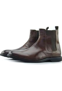 Bota Chelsea Slim Fit Monbran Dressy 19000-Mc Conhaque37
