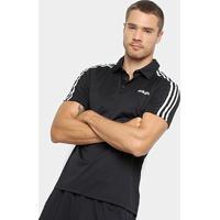 35b944222c Camiseta Polo Adidas D2M 3S Masculina - Masculino-Preto+Branco