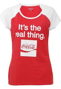 Camiseta Coca-Cola Jeans Aroma Vermelho/Branco - Kanui