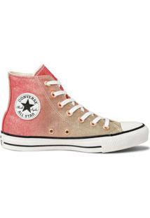 Tênis Converse All Star Chuck Taylor Lurex Hi Cano Alto - Feminino-Vermelho