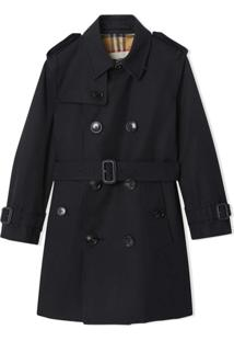 Burberry Kids Trench Coat 'The Sandringham' - Preto