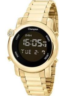 Relógio Champion Digital Ch48126H Feminino - Feminino-Dourado