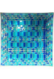 Fruteira Mosaico- Verde ÁGua & Azul Marinho- 30X30Cmbtc Decor