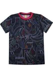 Camiseta Farm Rio Litoral Gráfico - Feminina - Preto