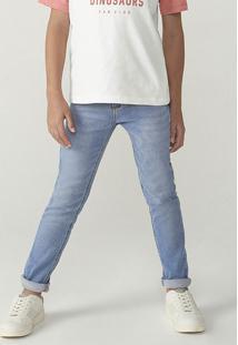 Calça Menino Em Jeans Skinny