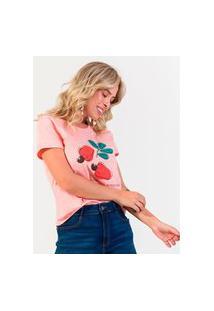 T- Shirt Feminina Estampada Rovitex Rosa