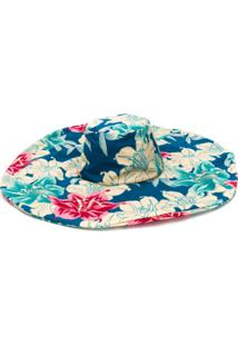 Etro Chapéu Com Estampa Floral - Azul
