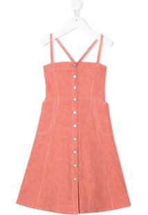 Bonpoint Vestido Jeans - Rosa