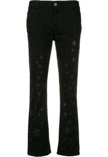 019a6dea6 Stella Mccartney Star Print Jeans - Preto