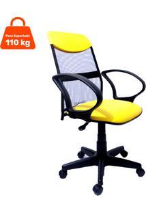 Cadeira De Escritório Presidente Costaneira Soft Amarelo