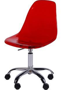 Cadeira Eames Dkr Or-1101Rpc Com Rodízio – Or Design - Vermelho