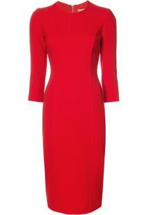 Michael Kors Vestido De Tricot - Vermelho