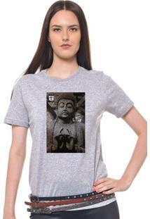 Camiseta Feminina Joss - Quandro Buda - Feminino-Mescla
